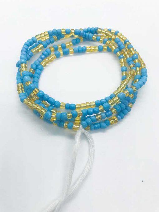 Baby Blue Gold Waist Beads