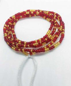 Gold Red waist Beads