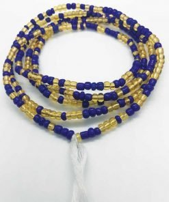 Gold Royal Blue Waist Beads