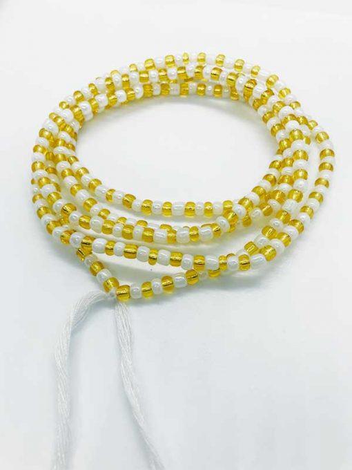 Gold White Waist Beads