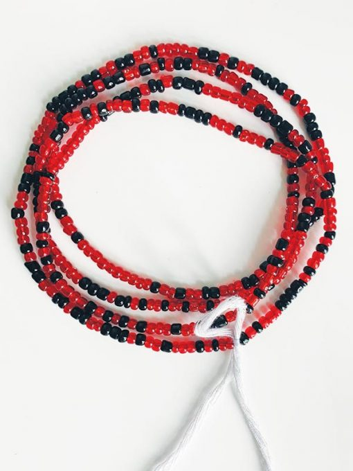 Black & Luminous Red Wiats Beads